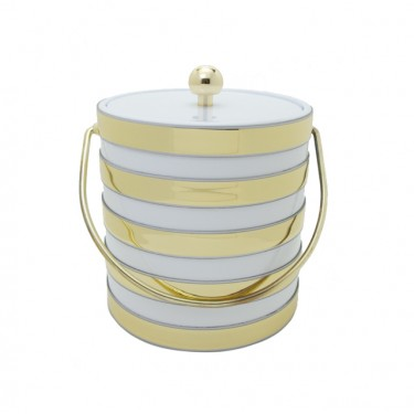 White Barrel 3 Quart Ice Bucket