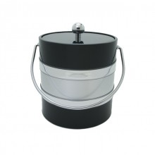 Black / Silver Two Tone 3Qt. Ice Bucket