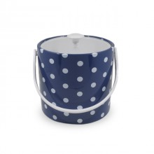 Blue Polka Dot 3 Qt. Ice Bucket