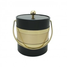 Black / Gold Two Tone 3Qt. Ice Bucket