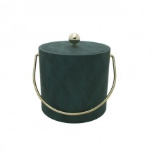 Saba Green Leatherette 3 Qt. Ice Bucket