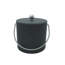 Saba Gray Leatherette 3 Qt. Ice Bucket