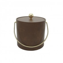 Pecan Leatherette 3 Qt. Ice Bucket