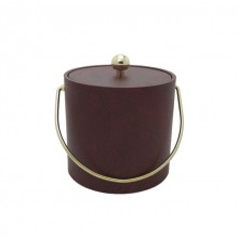Burgundy Leatherette 3 Qt. Ice Bucket